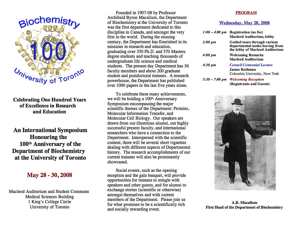 100th Anniversary Program Page 1