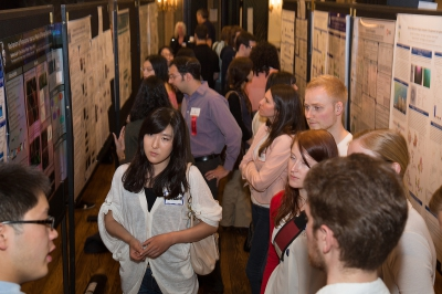 Busy poster session during Research Day