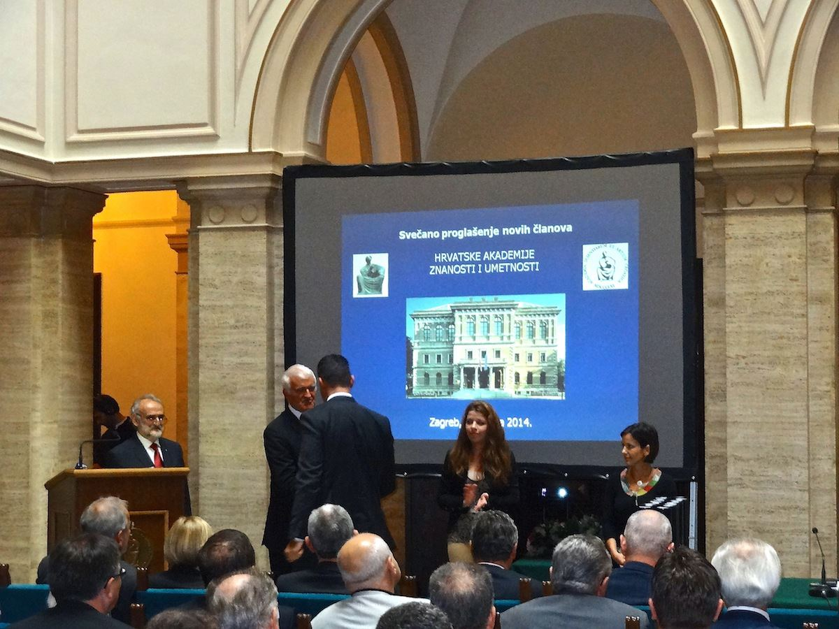 Igor Stagljar Ceremony at the Croatian Academy of Sciences and Arts