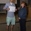 Ashrut Narula receives the award for top achievement in our 478 lab course
