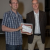 Dustin Little wins the outstanding PhD thesis award