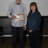 Graeme Sargent receives an outstanding TA award from Roula Andreopoulos