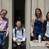 Nodwell lab group enjoys a BBQ lunch in the warm sunshine