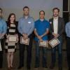 Simon Wisnovsky, Olesia Ivantsiv, Steve Molinski, Kamran Rizzolo  and Scott McAuley win PhD poster prizes
