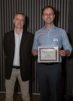 Tomas Gverzdys wins the coveted Scott Award for Top All-round Grad Student!