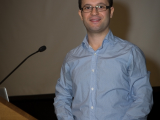 Emad Arash (Attisano lab) presents the Beckman -Coulter, Molecular Devices talk for best paper of 2014