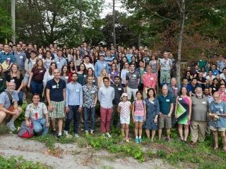The Biochemistry Department enjoying the great outdoors at Geneva Park