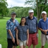The ERADicals are the first team off the tee - David Williams, Nana Lee, Reinhart Reithmeier and Mike Tsay