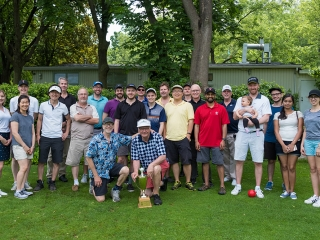Twenty-four trainees, staff and faculty enjoyed a damp but otherwise terrific day of golf at our 2017 Biochemistry Golf Day
