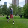 Golf Day organizer Reinhart Reithmeier shows great form on the 3rd tee